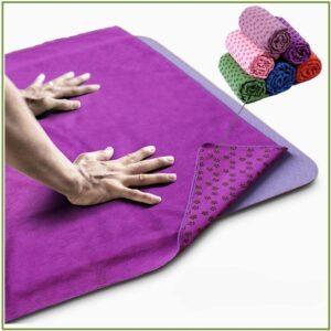 Нескользящее полотенце для коврика для Йоги (183x61x0,1 см/9 цветов) из микрофибры + сумка