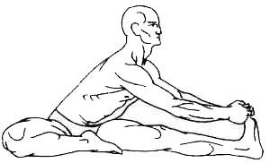 «Джану-ширшасана» - наклон сидя с касанием колена головой