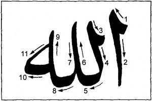 Форма и порядок начертания слова «Аллаах».