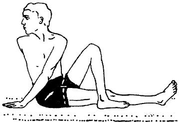 «Меру-вакрасана» - простая поза закручивания позвоночника