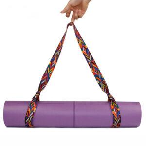 Стяжка-ремень из хлопка (130x3,8 см/9 цветов) для йога-коврика